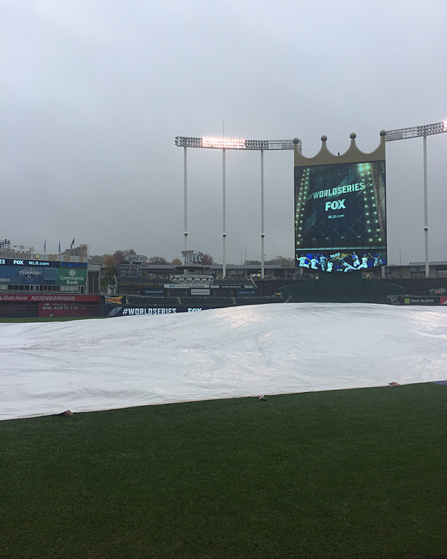 World Series Game 1 weather update: Still raining, but reason for optimism