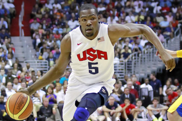 Kevin Durant leads Team USA this summer.  (USATSI)