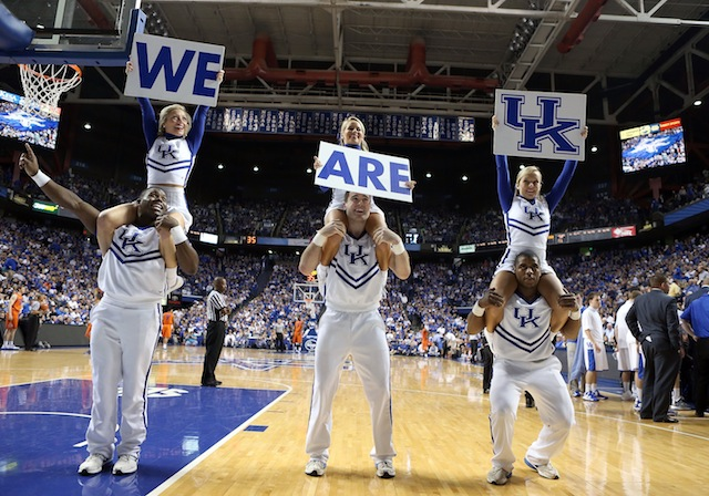 Kentucky's win over Florida puts the Wildcats into the field of 68 for now. (Getty)