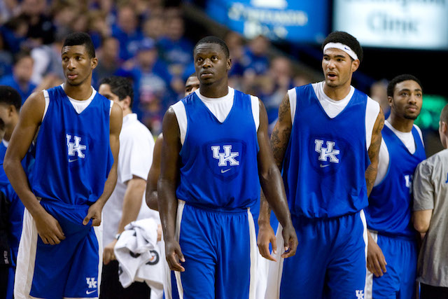 With Julius Randle (center) and Willie Cauley-Stein (right) leading the way, UK is loaded up front. (USATSI)