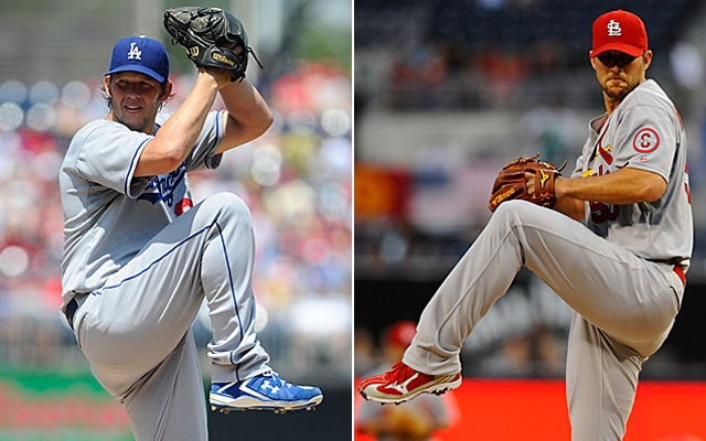 Clayton Kershaw and Adam Wainwright appear at the top, but it's a crowded field.
