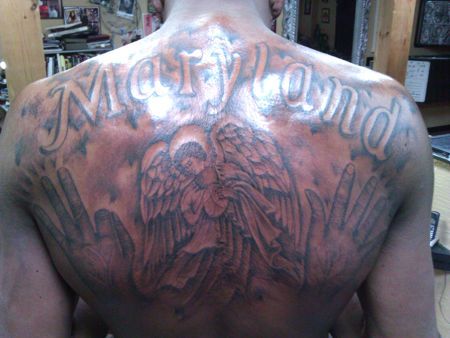kevin durant back tattoo 1 Photos | Kevin Durant: Back Tattoos