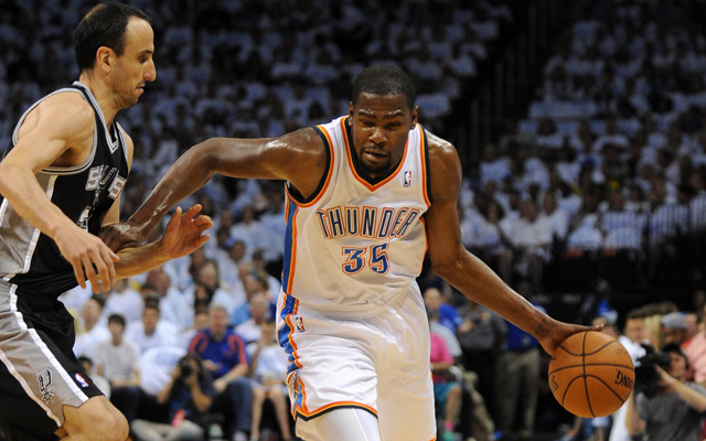410c8643c38 Kevin Durant will be out 6-8 weeks with a Jones fracture. (USATSI