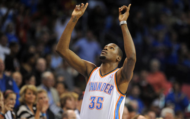 Kevin Durant leads the league in scoring. (USATSI)