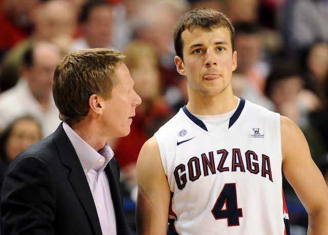 Mark Few and Kevin Pangos are going for yet another WCC automatic bid. (USATSI)