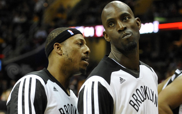 Kevin Garnett and Paul Pierce continue their postseason run.  (USATSI)