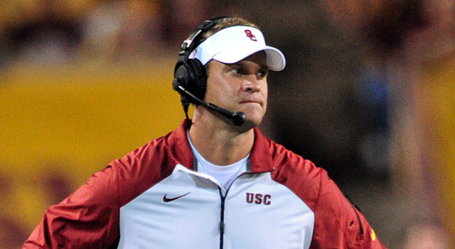 Lane Kiffin has a career record of 35-21 as coach of Tennessee and USC. (USATSI)