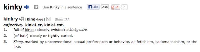 define kinky
