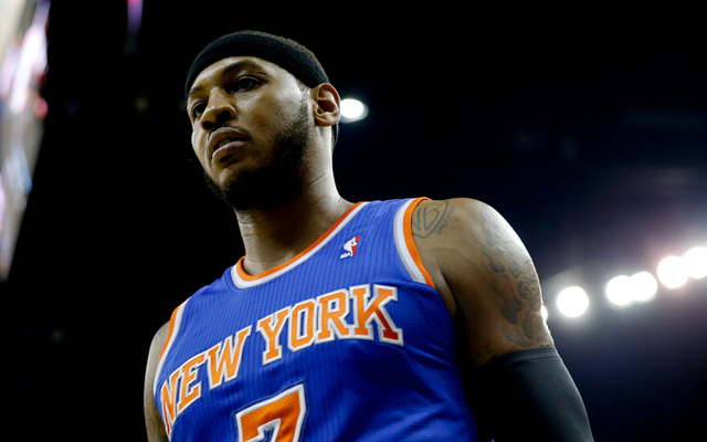 Will Melo re-sign with the Knicks if he opts out?   (USATSI)