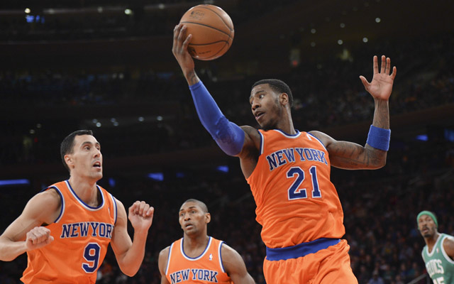 Are the Knicks' orange jerseys cursed or just ugly?  (USATSI)