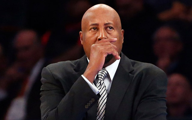 Mike Woodson wants more whistles for Carmelo Anthony.  (USATSI)