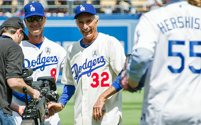 Other than Clayton Kershaw, legend Sandy Koufax is the only other arm to take the mound for the Dodgers. (Getty Images)