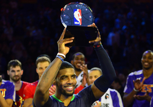 Kyrie Irving set a record for points in an All-Star half. (USATSI)