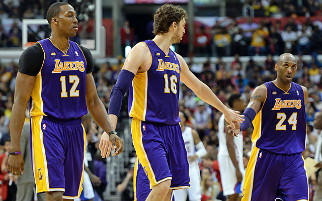 Kobe (right) will need his teammates to do more if the Lakers expect to see the postseason. (USATSI)