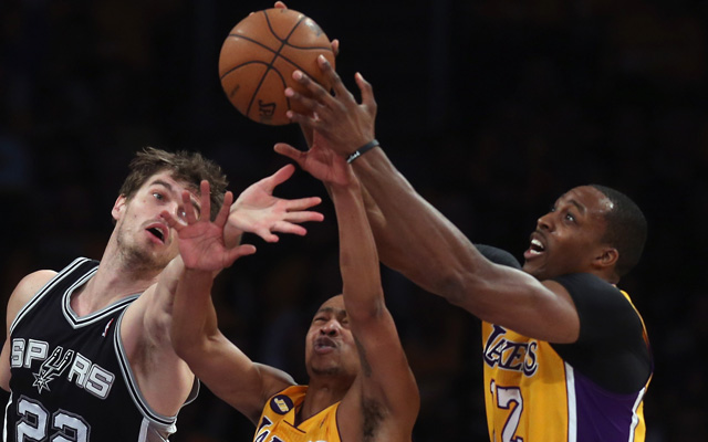The series is slipping through the Lakers' hands.    (Getty Images)