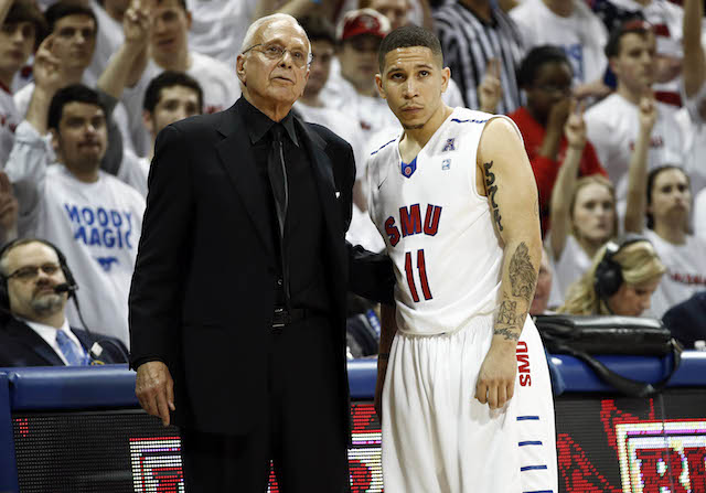 Larry Brown and Nic Moore helped rejuvenate SMU and Moody Coliseum last season. (USATSI)