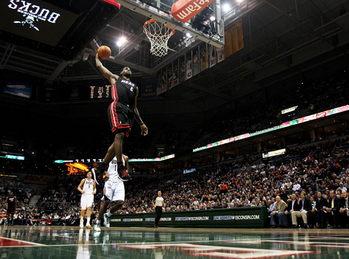lebron james heat dunk on kobe. Miami Heat forward LeBron