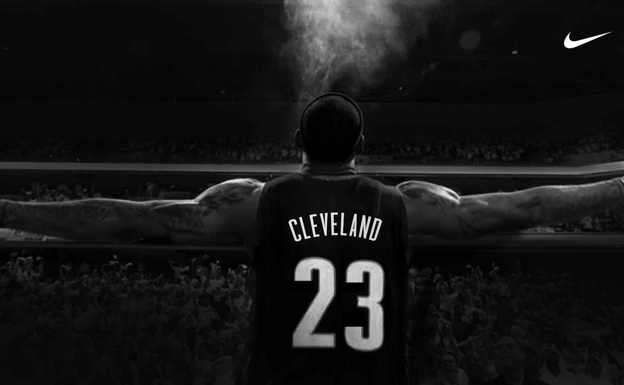 new product ac9d3 99da7 PHOTO Check out Nikes new LeBron James banner in Cleveland