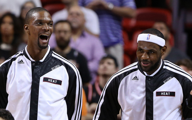 LeBron James and Chris Bosh are out Monday.  (USATSI)