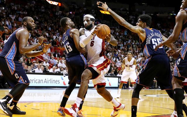 LeBron put 61 up on a good defense Monday.   (USATSI)