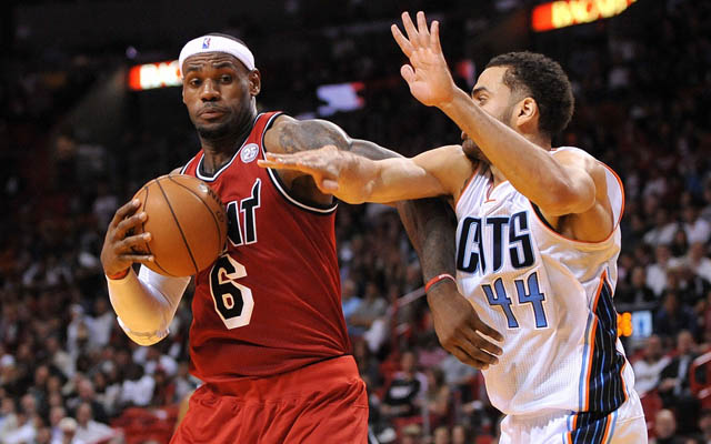 LeBron will probably not sign with the Bobcats. (USATSI)