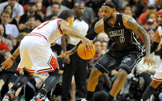 Derrick Rose and LeBron James are among the elite players of their time.  (USATSI)