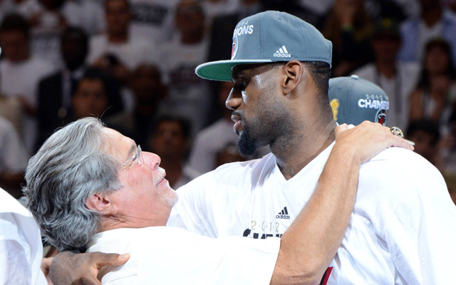 LeBron James reportedly has some bitterness towards Micky Arison.  (USATSI)