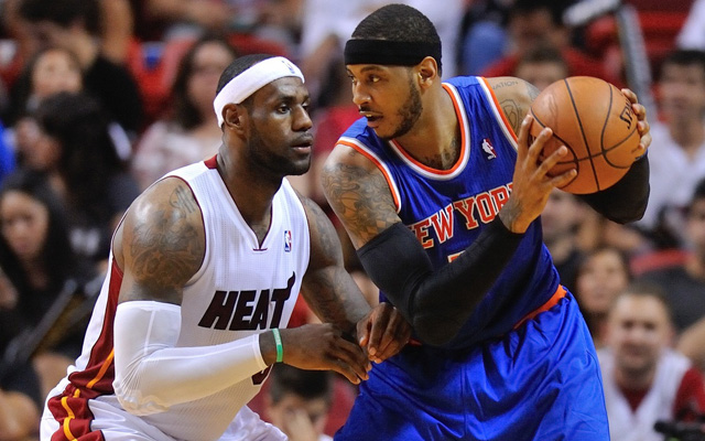 Could LeBron James team up with Carmelo Anthony?   (USATSI)