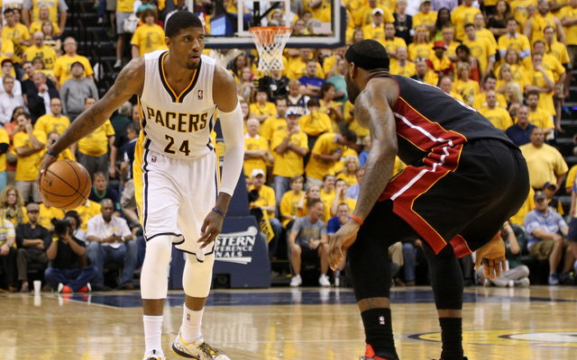 Paul George stared down LeBron James in Game 5.   (USATSI)