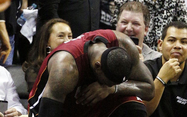 For LeBron, the struggle in Game 1 was real.  (USATSI)