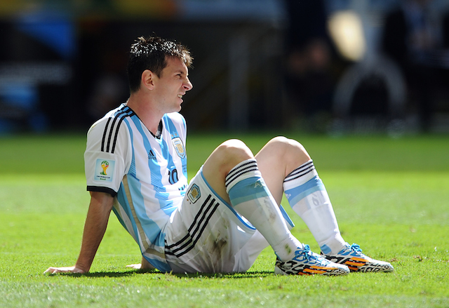 Lionel Messi has four goals and one assist in five games at the World Cup. (Getty Images)