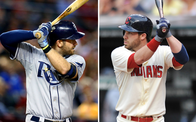 Evan Longoria (left) and Jason Kipnis are the best players on this year's AL wild-card teams.