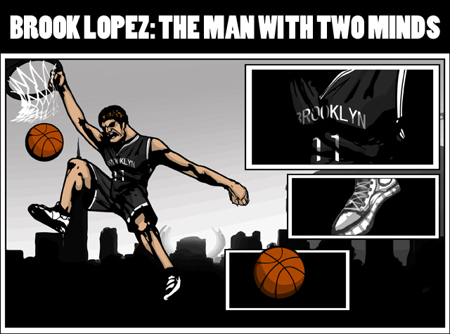Lopez has been a superhero for Brooklyn this year.     (Illustration by Jarod Valentin)