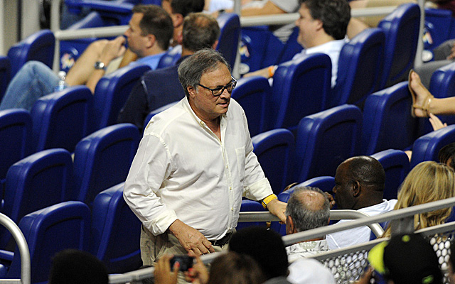 Marlins owner Jeffrey Loria, checking out his mostly-empty stadium.