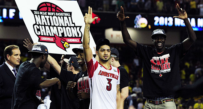 Louisville's national championship in men's basketball was part of its amazing sports year. (USATSI)