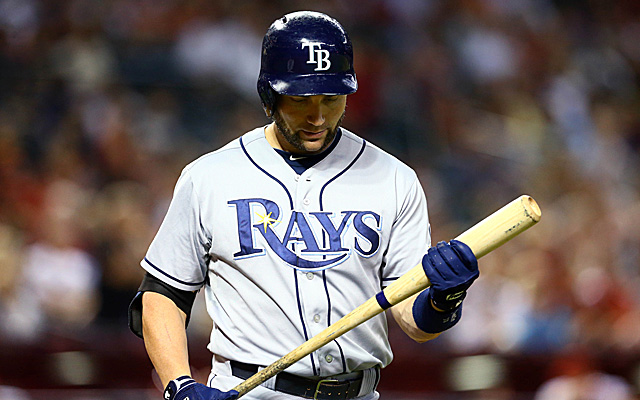 Back spasms have landed Luke Scott on the disabled list.
