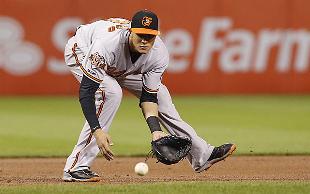 A groin injury chased Manny Machado from Thursday's game.