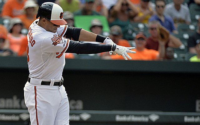 Manny Machado, immediately post bat-toss.
