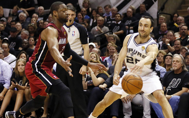 Manu Ginobili's passing is key for the Spurs in the Finals.  (USATSI)