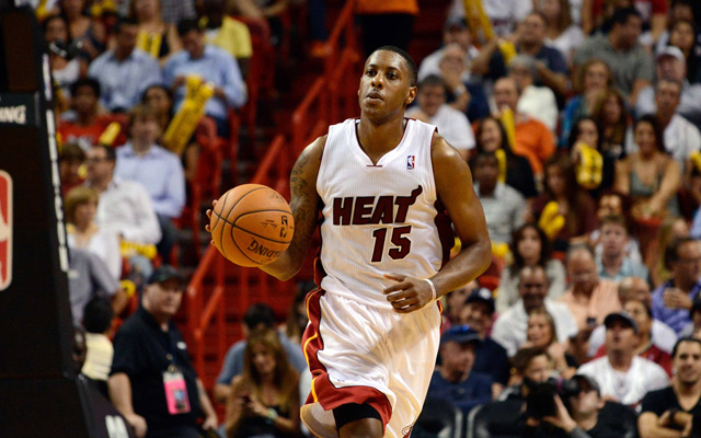 Mario Chalmers could miss Game 2 for the Heat. (USATSI)