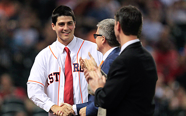 Mark Appel, receiving special treatment because he was the first overall pick in 2013.