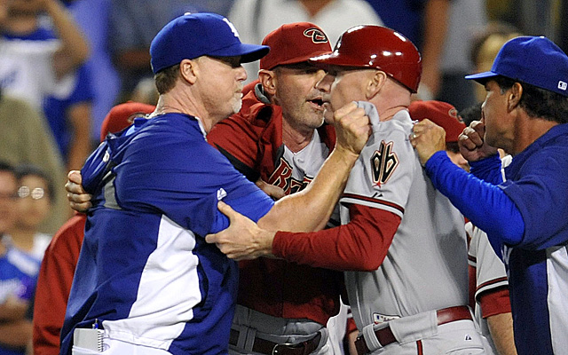 Mark McGwire has been suspended for his role in the brawl.