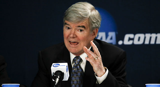 Mark Emmert's base salary was $1,263,356 in 2012. (USATSI)