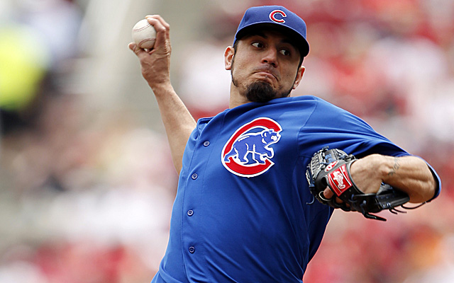 Matt Garza was not pleased with Johnny Cueto on Sunday.