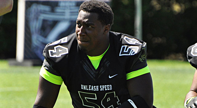 Four-star Garrald McDowell leads a strong defensive line class. (247Sports)