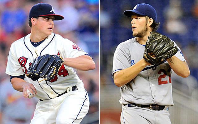 Kris Medlen and Clayton Kershaw are set to square off Thursday night.