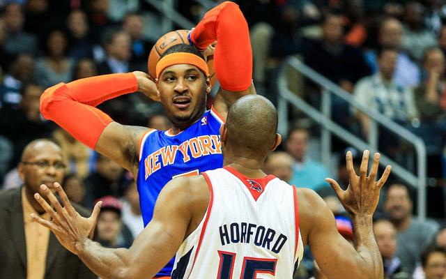 Chill out, Carmelo Anthony, it's going to be fine.  (USATSI)