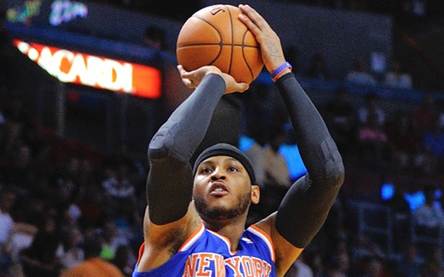 Carmelo Anthony has a lot to think about.  (USATSI)