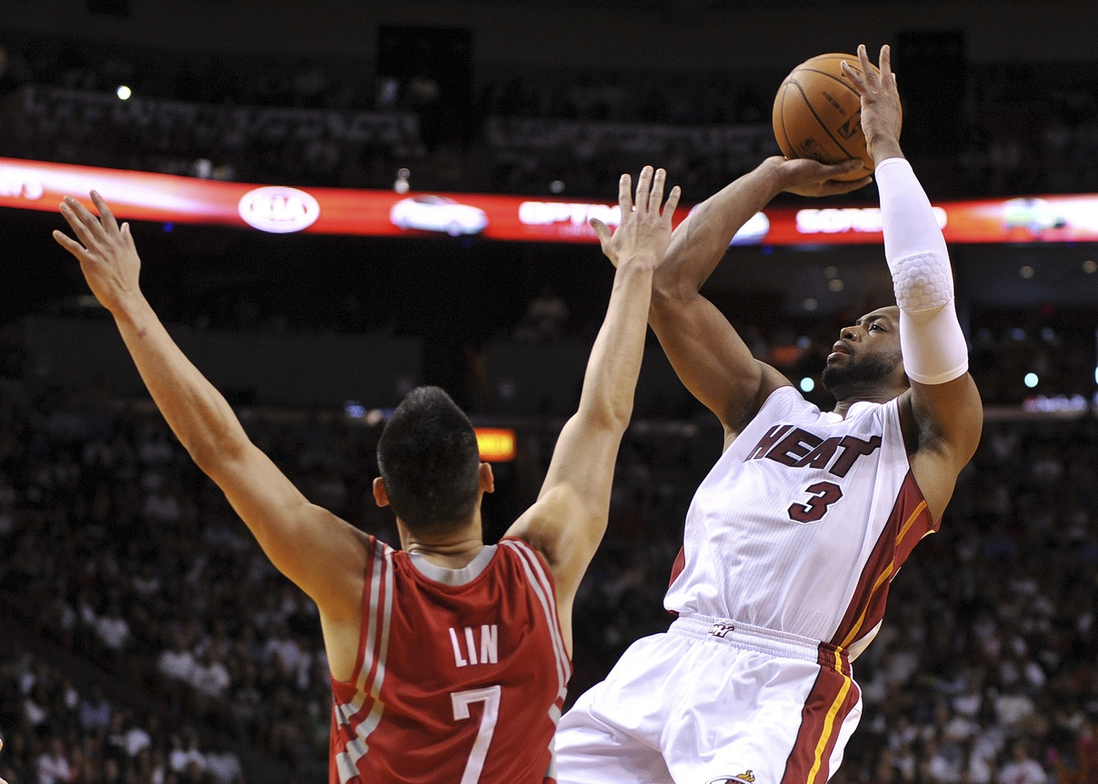Dwyane Wade and the Heat closed out the Rockets Sunday.  (USATSI)