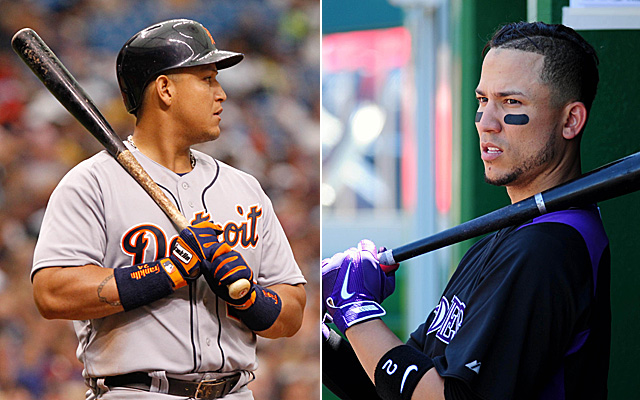 Miguel Cabrera and Carlos Gonzalez are powerful members of the All-Merit teams.